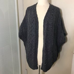 Forever 21 open cardigan wool blend M NWOT gray